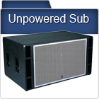 Passive Unpowered PA Subwoofers