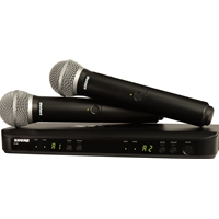 Shure BLX288-PG58 Dual H/Held Radio Mic Kit with two PG58