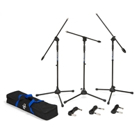 SAMSON BL3VP VALUE PACK, 3 mic stands, 3 mic cables and carry bag