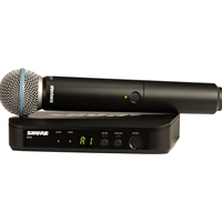 Shure  BLX24/BETA58 Handheld radio mic kit with Beta58a capsule