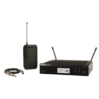 Shure BLX14R Half Rack Instrument Wireless Radio Mic kit with Guitar Cable