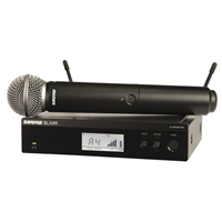 Shure  BLX24R-SM58 Half Rack Handheld radio mic kit with SM58