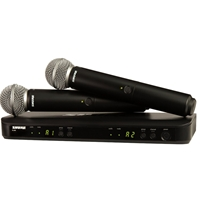 Shure BLX288-SM58 Dual H/Held Radio Mic Kit with two SM58