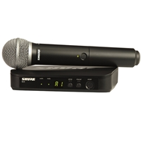 Shure  BLX24-PG58 Handheld radio mic kit with PG58