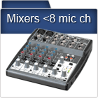 Mixing Consoles with less than 6 mic channels