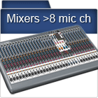 Mixers with more than 6 mic channels