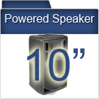 "10"" Powered PA Speakers"