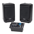 "Samson XP300 PA System 300w, 6"" speakers"