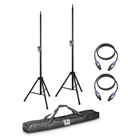 LD Systems 2x Speaker Stands with Bag + 2x Speaker Cable 5M