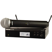 Shure  BLX24R-PG58 Half Rack Handheld radio mic kit with PG58