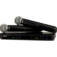 Shure BLX288-BETA58 Dual H/Held Radio Mic Kit with two Beta58a
